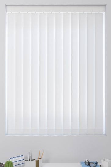 White Made To Measure Vertical Blind