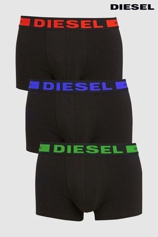 Diesel® Black Boxers Three Pack