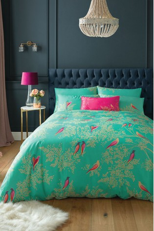 Sara Miller Birds Cotton Duvet Cover and Pillowcase Set