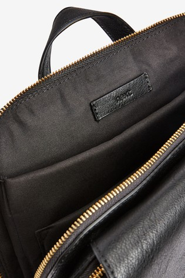 Black Buckle Detail Laptop Rucksack