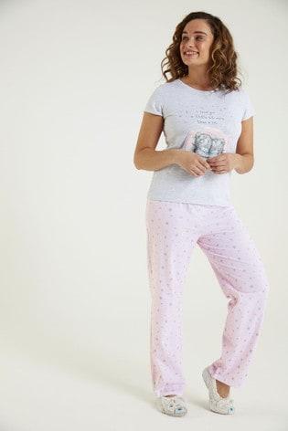 F&F Grey Tatty Pyjamas