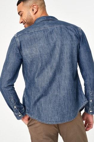 Levi's® Mid Wash Denim Shirt