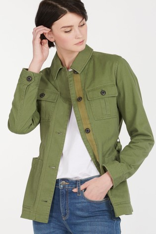 Barbour® Heritage Khaki Cotton Utility Belted Victoria Shacket