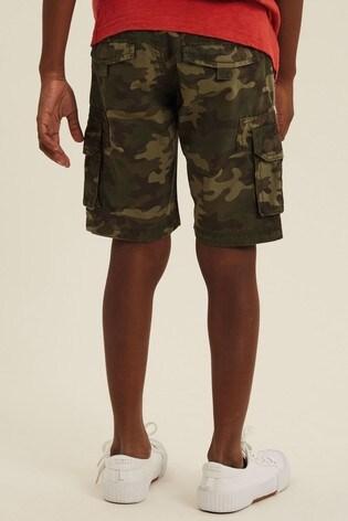 FatFace Green Lulworth Camo Cargo Shorts