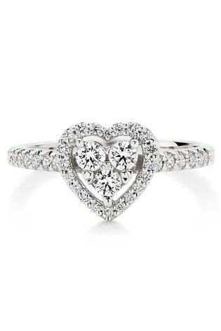 Beaverbrooks 9ct Diamond Heart Ring