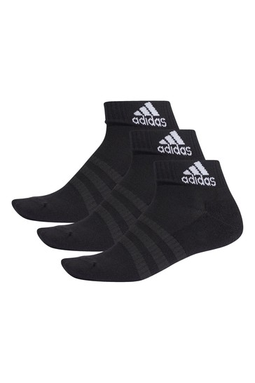 adidas Kids Black Ankle Socks Three Pack
