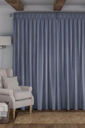 Craven Indigo Blue Made To Measure Curtains