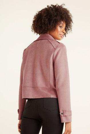 F&F Pink Suedette Biker Jacket