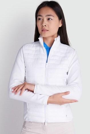 Calvin Klein Golf White Yarra Jacket
