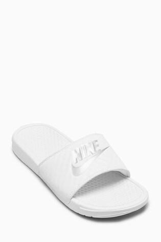 Nike White Benassi Just Do It. Sliders
