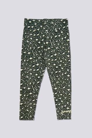 Pineapple High Waisted Leopard Leggings
