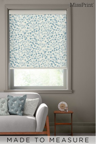 Fern Lighthouse Blue Made To Measure Roller Blind by MissPrint
