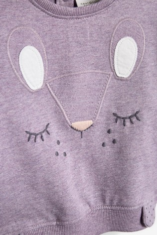 Lilac Character Sweat Top And Leggings Set (0mths-2yrs)