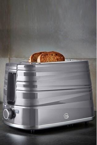 Swan Symphony 2 Slice Grey Toaster