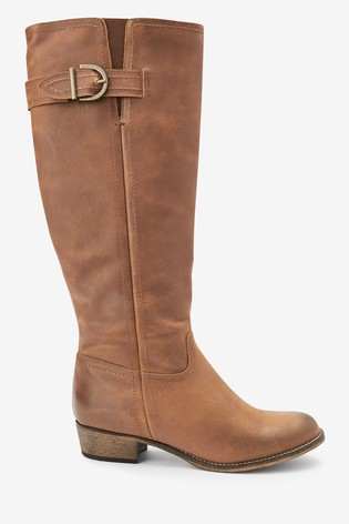 Brown Forever Comfort® Casual Knee High Boots
