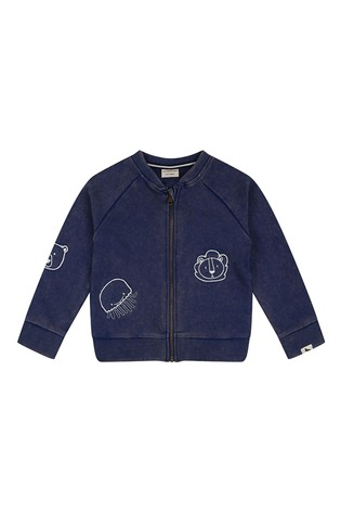 Turtledove London Organic Cotton Lava Wash Navy Bomber Jacket