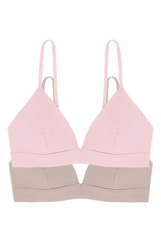 DORINA Pink/Nude Lila Non Padded Bralette 2 Pack