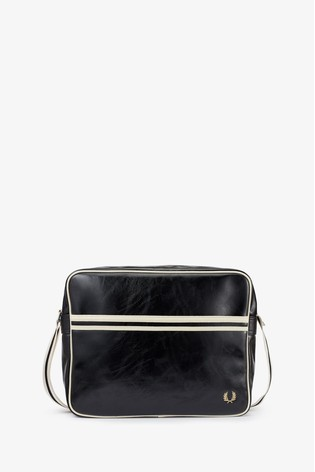 Fred Perry Black Classic Shoulder Bag