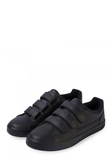 Kickers® Black Tovni Velcro Trainers