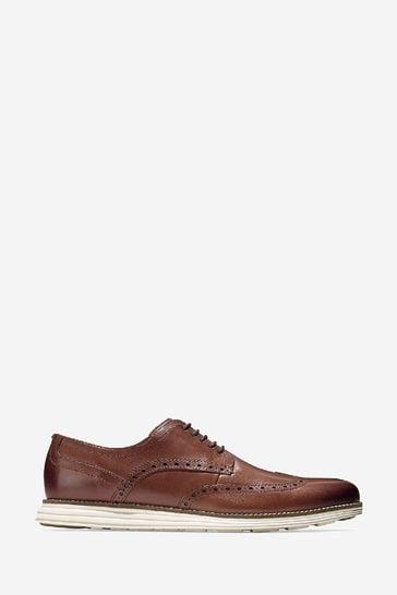 Cole Haan Brown Original Grand Wingtip Oxford Shoes
