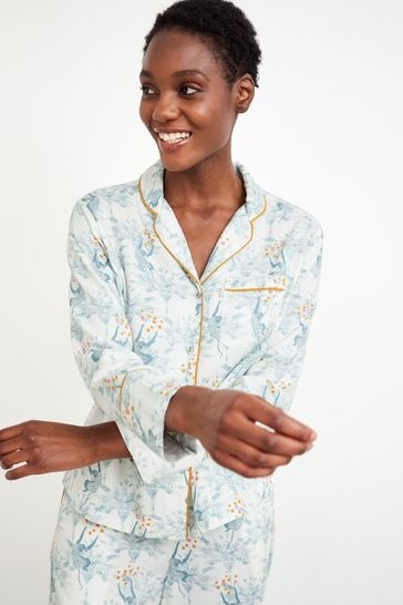 White Stuff Grey Skylar Woven Pyjama Shirt