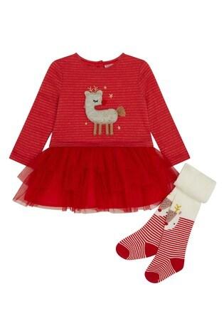 F&F Red Reindeer Tutu Dress