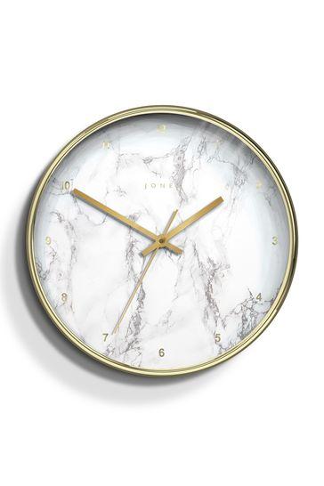 Jones Clocks Penny Gold Marble Dial Wall Clock