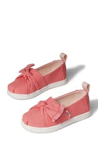 Toms Peach Canvas/Knot Alpargata Shoes
