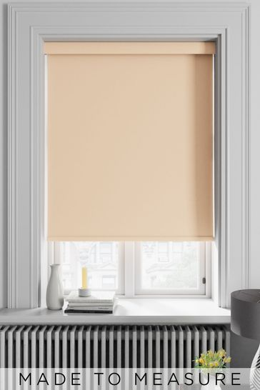 Haig Peach Orange Made To Measure Blackout Roller Blind