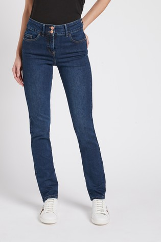 Dark Blue Enhancer Slim Jeans