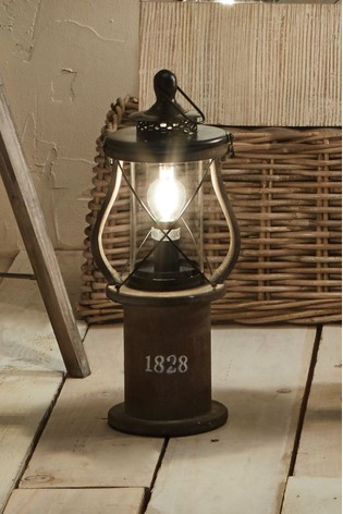 Gibson Antique Wood Lantern Table Lamp by Pacific