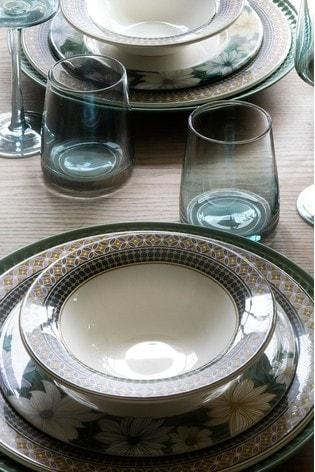 Set of 4 Portmeirion White Atrium Geo Cereal Bowls