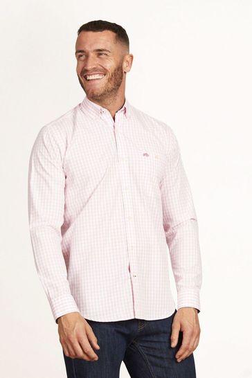 Raging Bull Pink Signature Gingham Shirt
