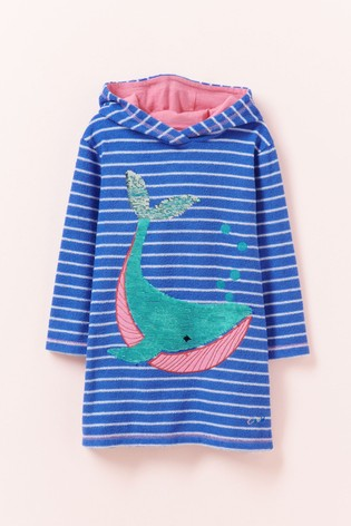 Crew Clothing Blue Whale Towel Cover Up