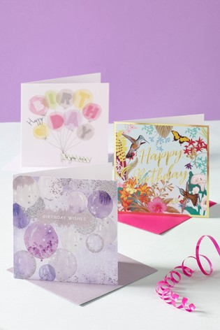 6 Pack Pretty Birthday Cards