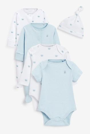 Blue Bear 6 Piece Newborn Gift Set in Bag (0-9mths)