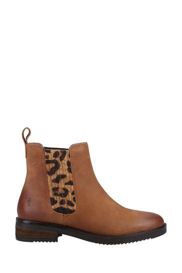 Hush Puppies Tan Stella Slip-On Ankle Boots