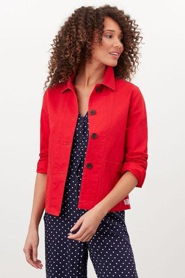 Joules Red Devon Coastal Jacket