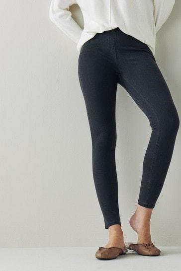 Grey Jersey Denim Leggings