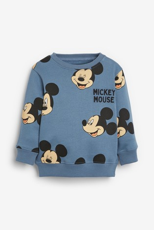 Blue Mickey Mouse™ Jersey Crew And Jogger Set (3mths-8yrs)