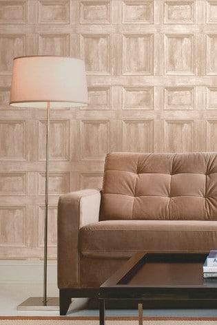 Distinctive Wood Panel Sidewall Wallpaper by Fine Décor
