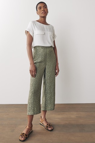 Green Woven Culottes