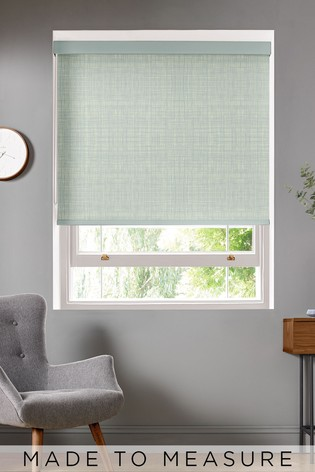Scribble Duck Egg Blue Made To Measure Roller Blind by Orla Kiely