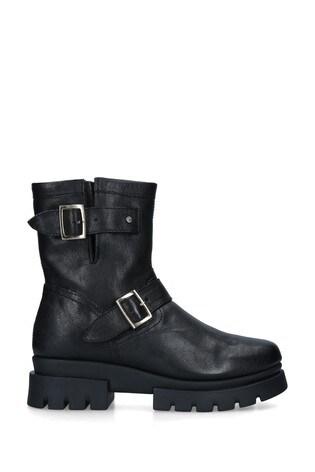 Carvela Comfort Black Run Biker Boots