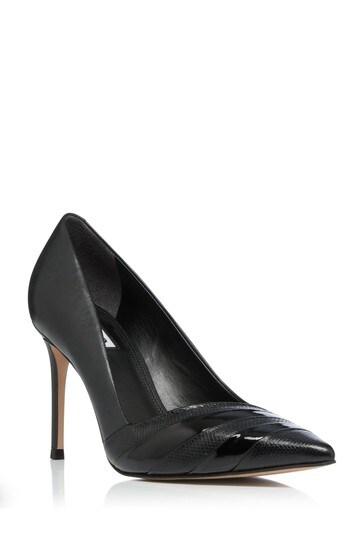 Dune London Black Bountiful Contrast Court Shoes