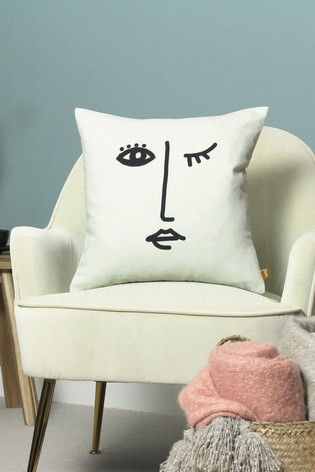 Furn White Recycled Polyester Features Cushion