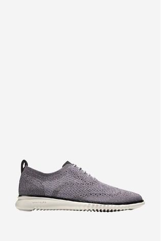 Cole Haan Grey 2.Zerogrand Stitchlite Oxford Lace-Up Shoes