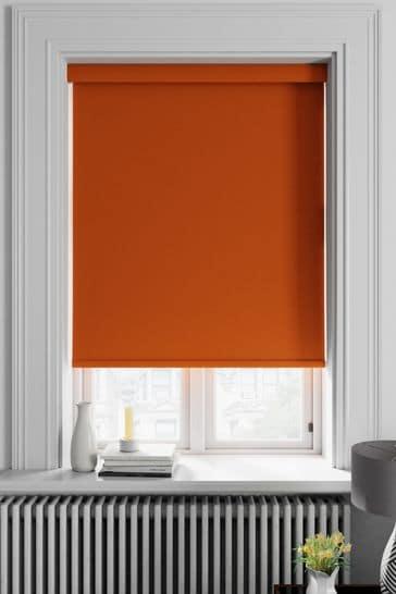 Haig Tangerine Orange Made To Measure Blackout Roller Blind