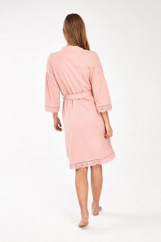Pink Organic Cotton Robe