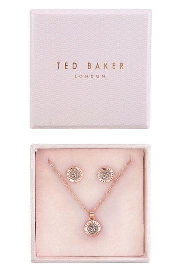 Ted Baker Rose Gold Glitter Emillia Mini Button Gift Set